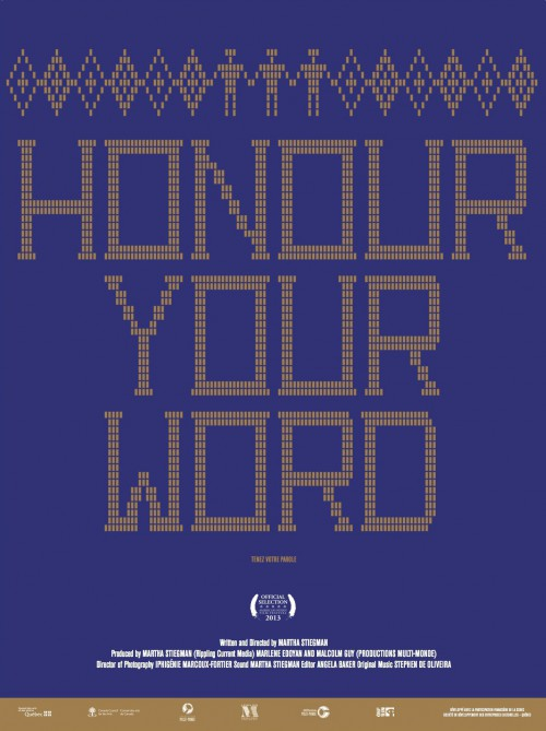 Honour your word poster